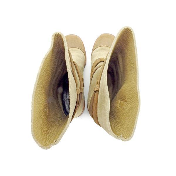 シャネル Chanel ブーツ ベルトデザイン 36.5 ベージュ ブラウン ゴールド レディース 中古