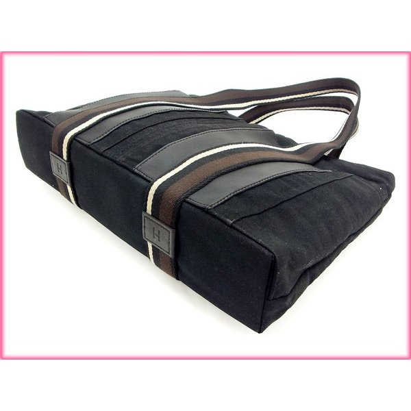 エルメス Hermes バッグ トートバッグ トロカホリゾンタルMM ブラック レディース 中古 Bag