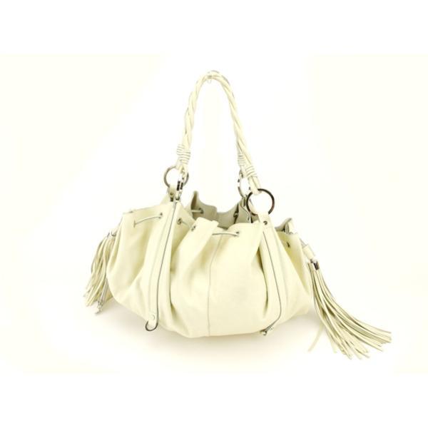 ジバンシィ Givenchy バッグ ショルダーバッグ パンプキントート ホワイト 白 レディース メンズ 中古 Bag