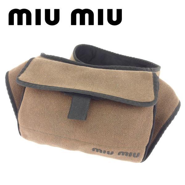 ミュウミュウ Miu Miu バッグ ショルダーバッグ グリーン ブラック ブラウン レディース メンズ 中古 Bag