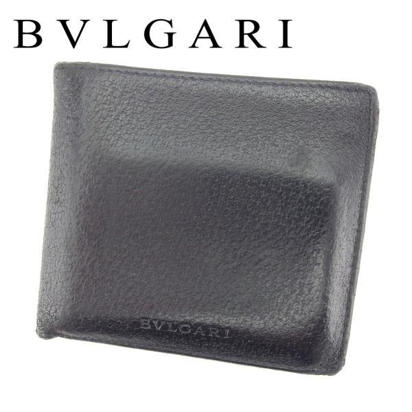 ブルガリ 二つ折り 財布  ロゴ BVLGARI 中古|branddepot-tokyo