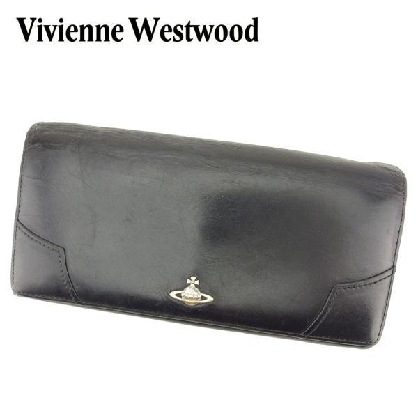 50266627826b ヴィヴィアン ウエストウッド Vivienne Westwood 財布 長財布 オーブ ブラック レディース メンズ 中古|branddepot-  ...
