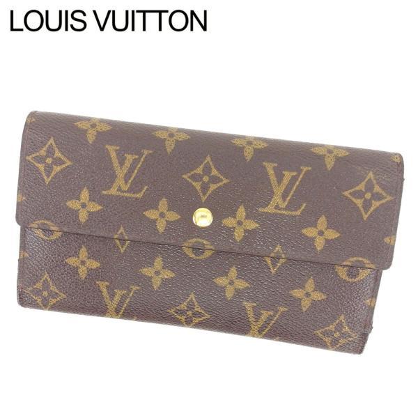 ルイヴィトン Louis Vuitton 財布 長財布 モノグラム ポルトトレゾールインターナショナル レディース メンズ 中古 branddepot-tokyo