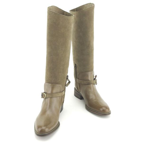 サルトル SARTORE ブーツ シューズ 靴 レディース ♯36ハーフ ロング ジョッキー  人気 良品 T8056