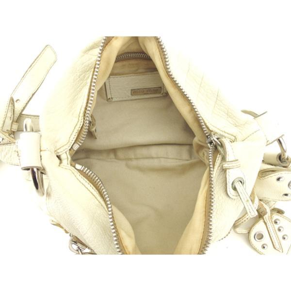 ミュウミュウ miu miu ショルダーバッグ 斜めがけショルダー バッグ レディース フラワーモチーフ 中古 人気 セール T8100