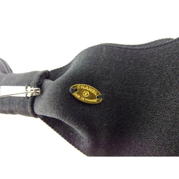シャネル CHANEL ブローチ ピンブローチ レディース リボン カメリア 中古 美品 T8157