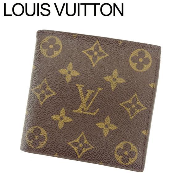 ルイ ヴィトン Louis Vuitton 二つ折り 財布 廃盤レア レディース メンズ No.140 モノグラム 中古 ヴィンテージ 訳あり T8193|branddepot-tokyo