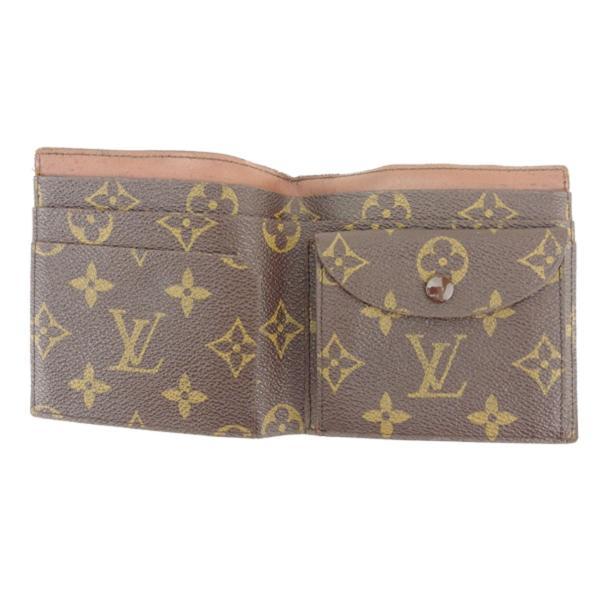 ルイ ヴィトン Louis Vuitton 二つ折り 財布 廃盤レア レディース メンズ No.140 モノグラム 中古 ヴィンテージ 訳あり T8193|branddepot-tokyo|05
