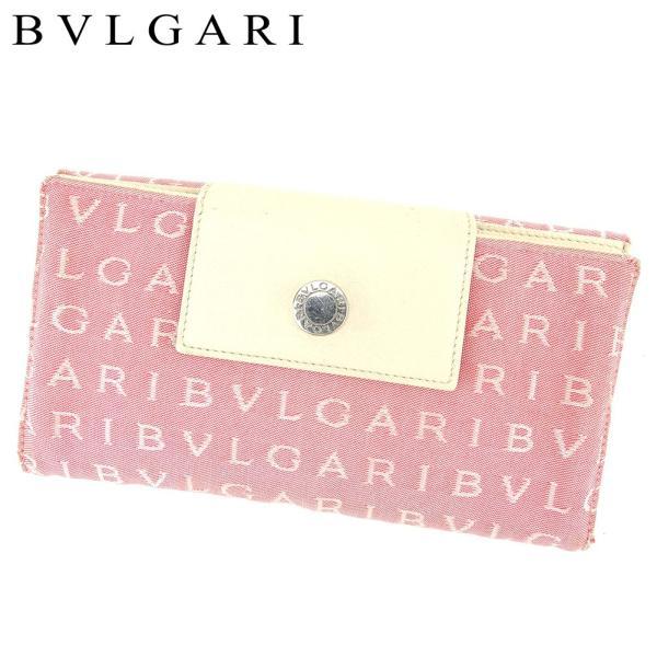 f434b9706ac8 ブルガリ BVLGARI 長財布 Wホック レディース ロゴマニア 中古 人気 セール T8518