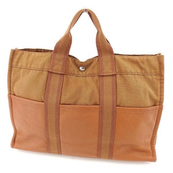 エルメス Hermes バッグ トートバッグ フールトゥ トートMM 1/2 ブラウン系 レディース メンズ 中古 Bag