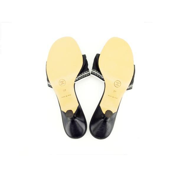 シャネル CHANEL サンダル シューズ 靴 レディース #37 ロゴ 中古