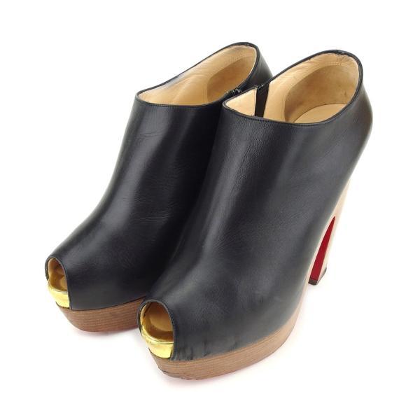 クリスチャンルブタン Christian Louboutin ブーティ シューズ 靴 レディース ♯38 プラットフォーム オープントゥ 中古