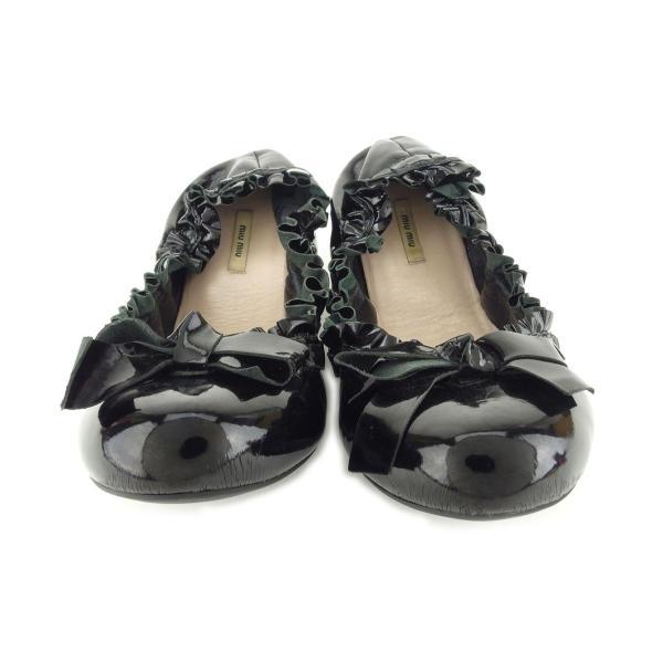 ミュウミュウ miumiu パンプス シューズ 靴 レディース #36ハーフ リボンモチーフ 中古