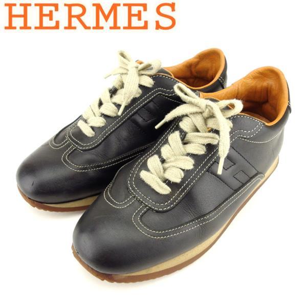 エルメス HERMES スニーカー シューズ 靴 レディース ♯38ハーフ ローカット クイック 中古 branddepot-tokyo