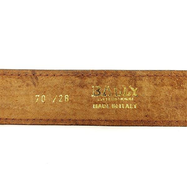 272ab4bf1ef7 ... バリー Bally ベルト クロコダイル型押し ブラウン ゴールド レディース 中古 ...
