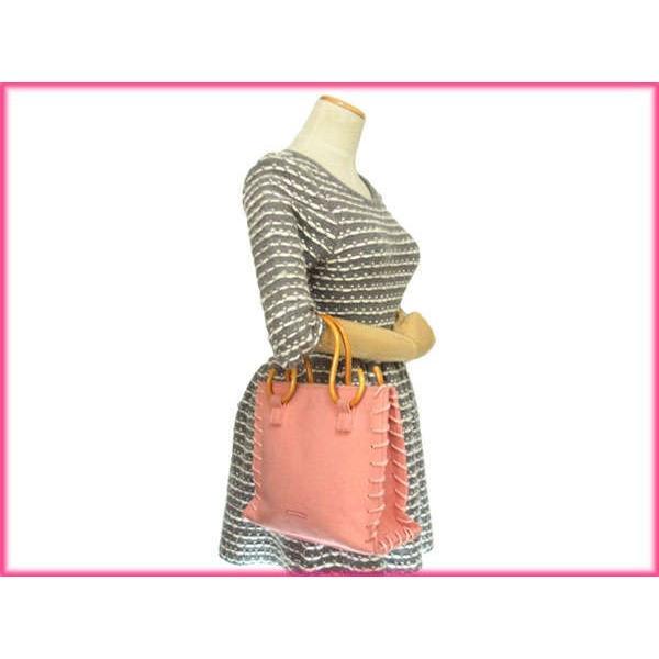 サマンサタバサ Samantha Thavasa バッグ ハンドバッグ ロゴ オルラーレバンブーハンドル ピンク レディース 中古 Bag