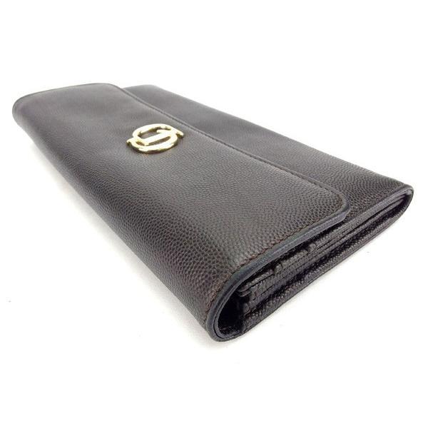 ディオール Dior 財布 長財布 CDマーク ブラック レディース メンズ 中古
