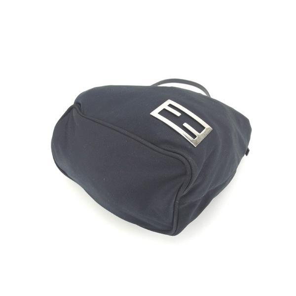 フェンディ Fendi バッグ ハンドバッグ FFプレート ブラック シルバー レディース  Bag
