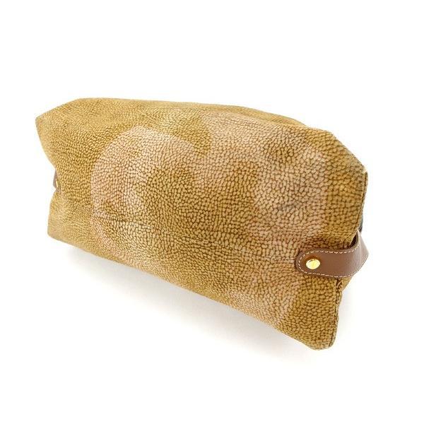 ボルボネーゼ Borbonese バッグ ハンドバッグ ウズラ柄 redwallタグ付き ベージュ ブラウン ゴールド レディース  Bag