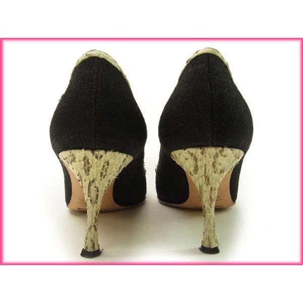 ドルチェ&ガッバーナ Dolce&Gabbana パンプス 36 ブラック ベージュ系 レディース ドルガバ  Pumps