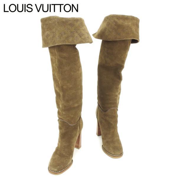 ルイ ヴィトン LOUIS VUITTON ブーツ シューズ 靴 レディース #35ハーフ マヒナ 中古 人気 良品 H601