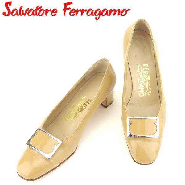 サルヴァトーレ フェラガモ Salvatore Ferragamo パンプス シューズ 靴 レディース ♯5ハーフD スクエアトゥ ガンチーニ