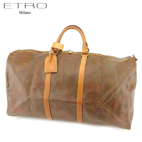 エトロ ETRO ボストンバッグ 旅行用バッグ レディース メンズ ペイズリー 中古