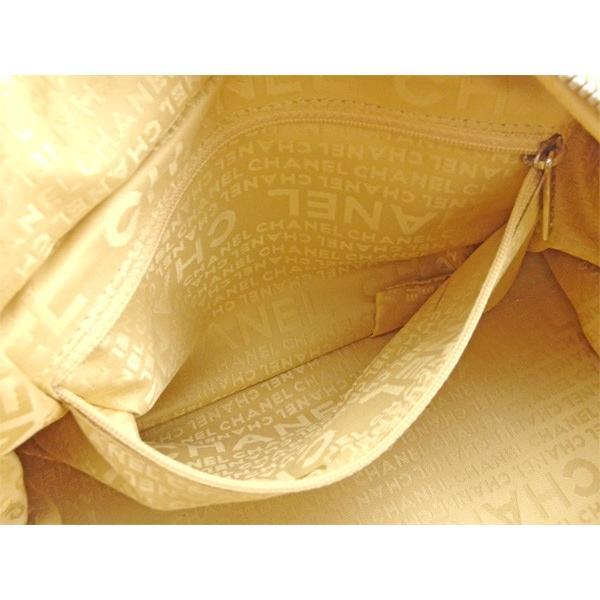 シャネル Chanel バッグ ボストンバッグ ココマーク ベージュ シルバー レディース 中古 Bag