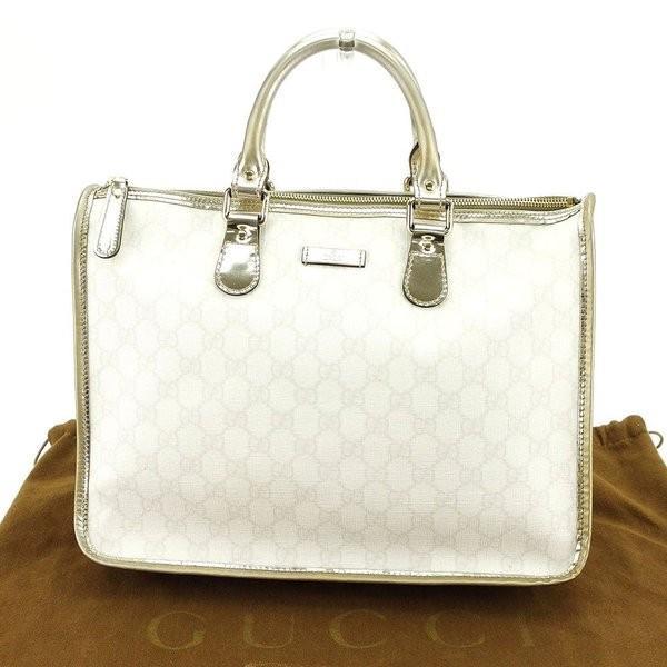 グッチ Gucci バッグ ハンドバッグ GGプラス ホワイト シルバー レディース メンズ  Bag