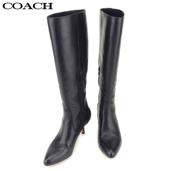 コーチ COACH ブーツ シューズ 靴 レディース ♯37.5 Q6441 ロング