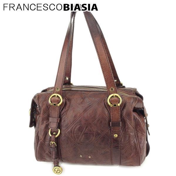 フランチェスコビアジア FRANCESCO BIASIA ハンドバッグ ミニボストンバッグ レディース FBマーク柄