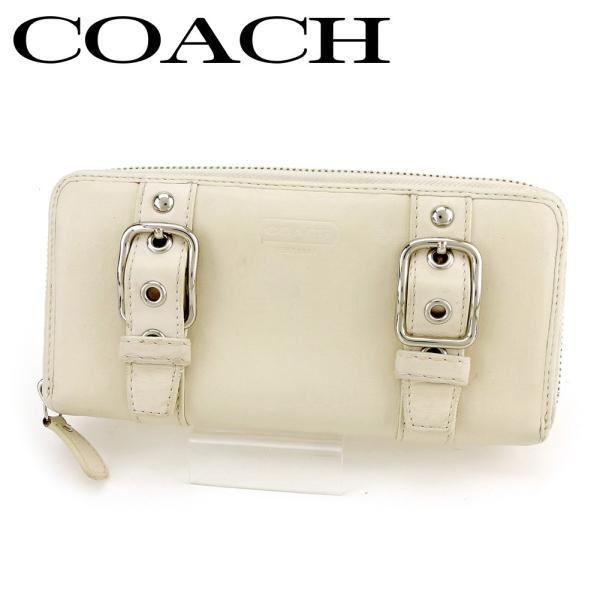 7ecb560f9eb0 コーチ COACH 長財布 ラウンドファスナー 財布 レディース ダブルベルト 中古 人気 セール P937の画像