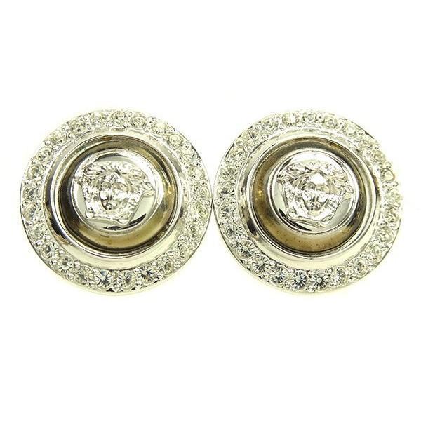 ヴェルサーチ Versace イヤリング メデューサ シルバー レディース 中古 Earrings