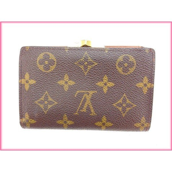 more photos 4034b 56308 ルイヴィトン Louis Louis Vuitton がま口財布 二つ折り ...