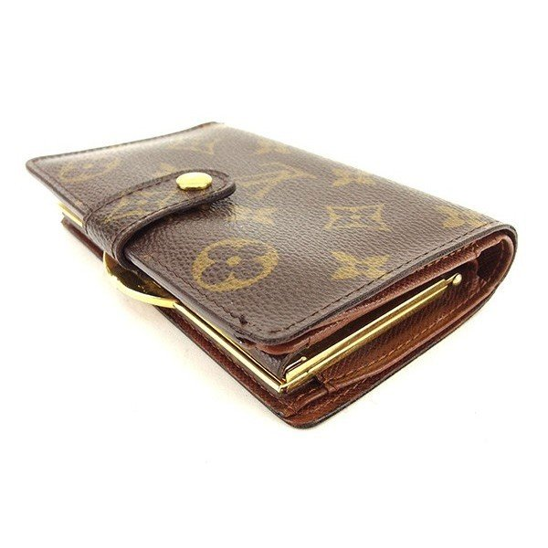 premium selection b663d 6998a ルイ ヴィトン モノグラム LOUIS VUITTON 財布 がま口財布 二 ...