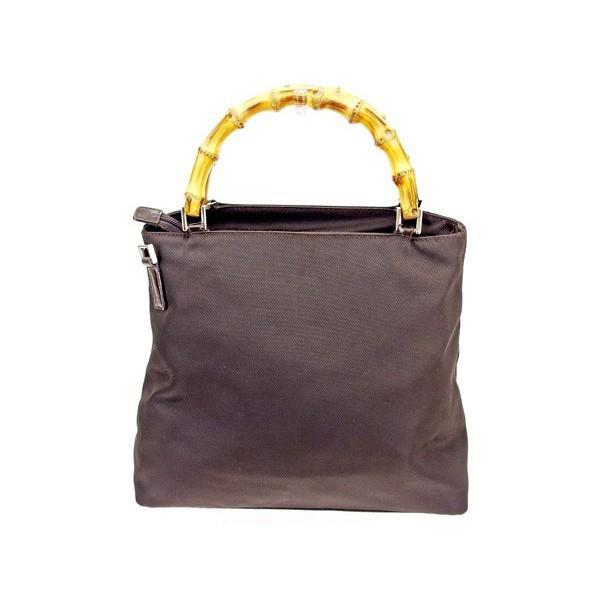 グッチ Gucci バッグ ハンドバッグ バンブー ブラウン ナチュラル シルバー レディース  Bag
