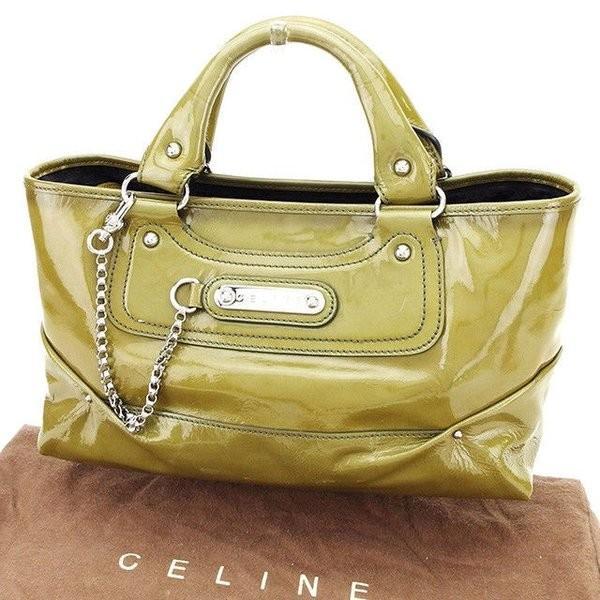 セリーヌ Celine バッグ ハンドバッグ ブギーバッグ カーキ レディース メンズ  Bag