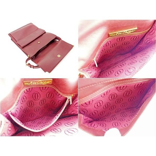カルティエ Cartier バッグ ハンドバッグ マストライン ボルドー レディース メンズ  Bag