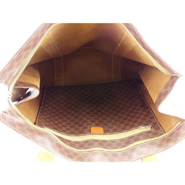 セリーヌ Celine バッグ トートバッグ マカダム ブラウン系 ゴールド レディース メンズ  Bag