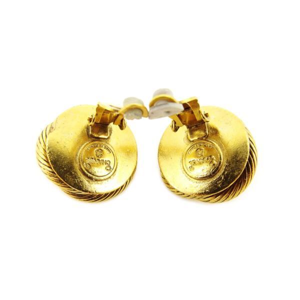 シャネル Chanel イヤリング フェイクパール オールドシャネル パールホワイト ゴールド レディース 中古 Earrings