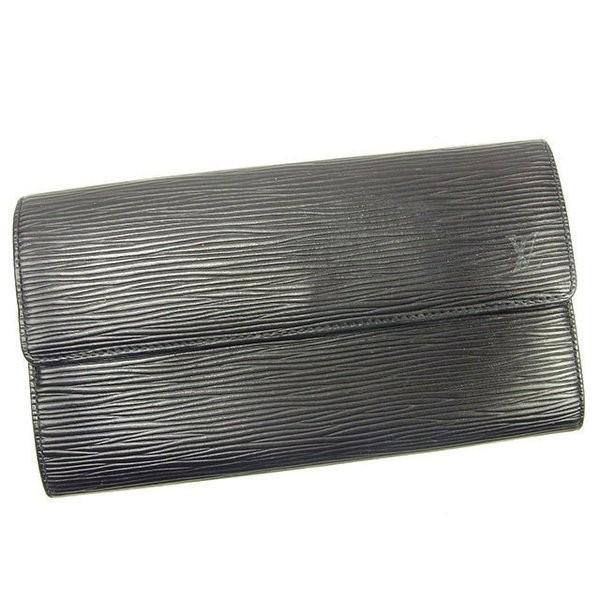 ルイヴィトン Louis Vuitton 財布 長財布 エピ ポルトモネクレディ ノワール(黒) レディース メンズ 中古