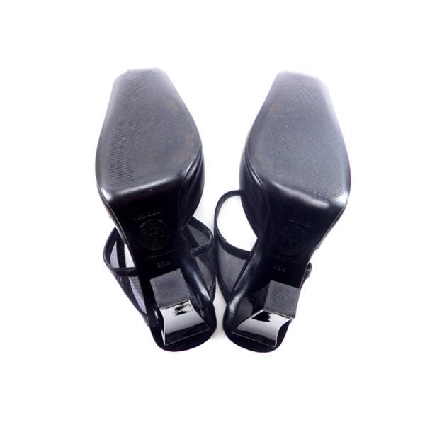 ヴェルサーチ Versace サンダル メデューサ 35.5 ブラック レディース 中古 Sandals