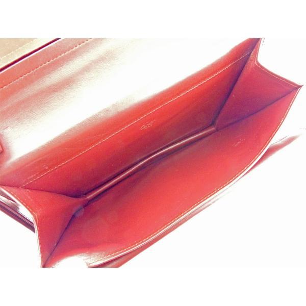 カルティエ Cartier バッグ クラッチバッグ マストライン ボルドー ゴールド レディース メンズ 訳あり 中古 Bag