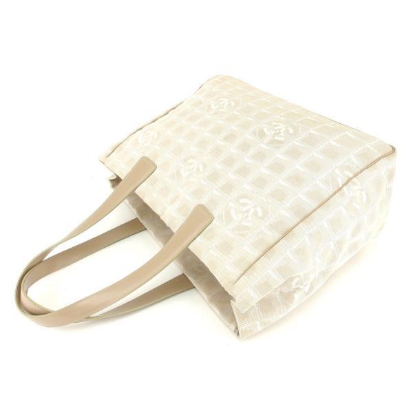 シャネル Chanel バッグ トートバッグ ニュートラベルライン ニュートラベルライントートMM ベージュ レディース メンズ 中古 Bag