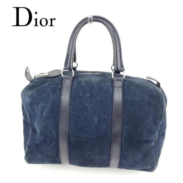 ディオール Dior バッグ ボストンバッグ トロッター ブラック レディース メンズ 中古 Bag
