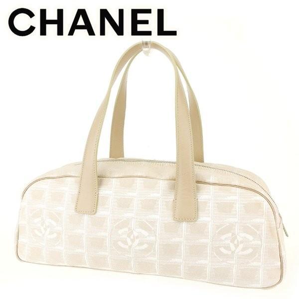 シャネル Chanel バッグ ハンドバッグ ニュートラベルライン オールドシャネル ベージュ シルバー レディース メンズ  Bag