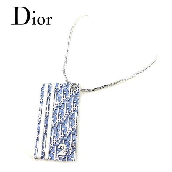 low priced 9a71f 98462 ディオール Dior ネックレス トロッター ホワイト 白ブルー ...