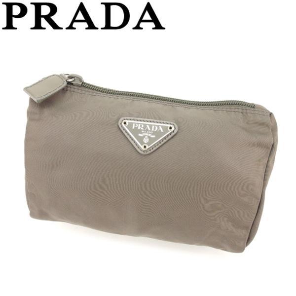 プラダ PRADA ポーチ 化粧ポーチ レディース メンズ 中古 人気 良品 T8458