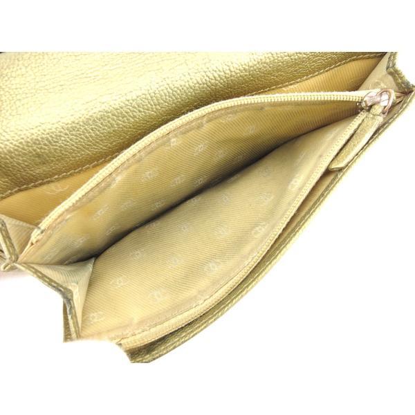 シャネル CHANEL 長財布 ファスナー付き長財布 レディース ココボタン 中古