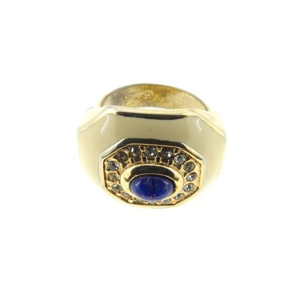ディオール Dior 指輪 リング レディース ラインストーン 中古